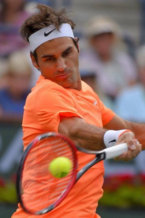 Roger Federer Forehand and Backhand   Barber Tennis